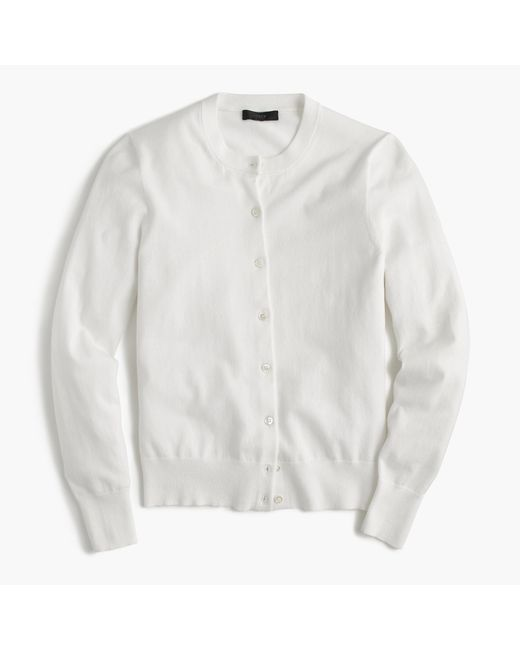 J.Crew | White Cotton Jackie Cardigan Sweater for Men | Lyst