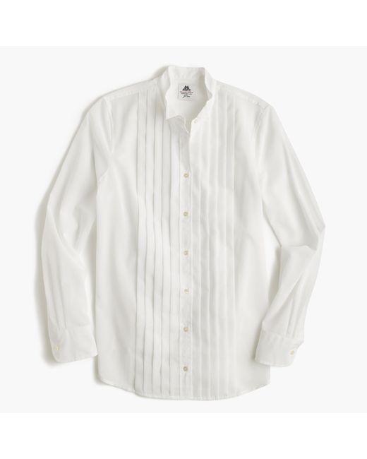 J.Crew | White Collection Thomas Mason Tuxedo Shirt In Cotton Voile | Lyst