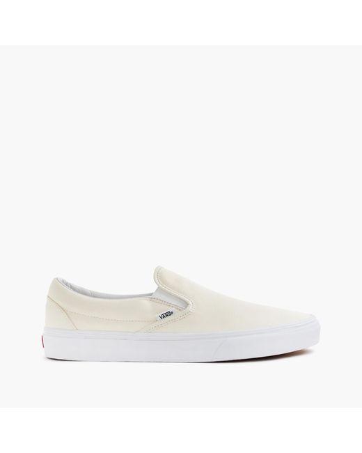 J.Crew   White Men's Vans Canvas Slip-on Sneakers for Men   Lyst