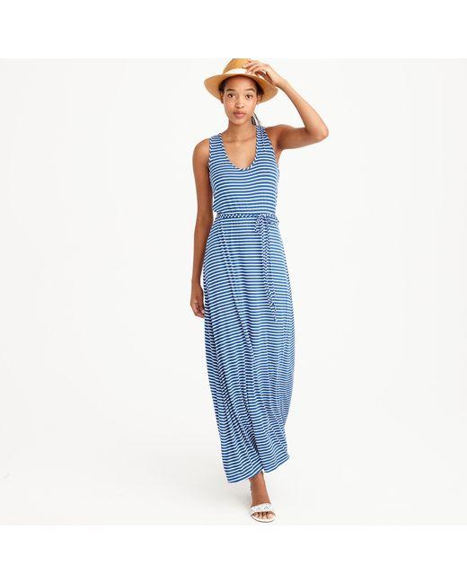 Vintage Tie-Waist Striped Dress