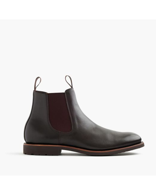 J.Crew | Brown Kenton Leather Chelsea Boots for Men | Lyst