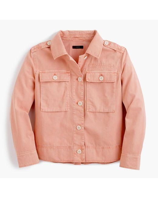 J.Crew | Multicolor Garment-dyed Safari Shirt-jacket | Lyst