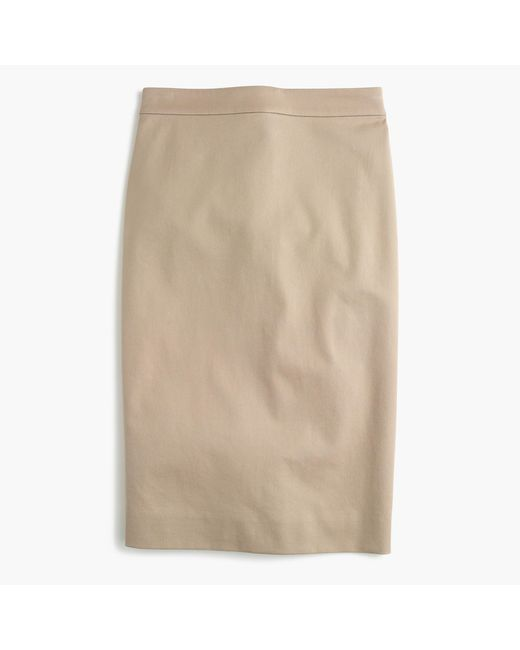 J.Crew | Natural No. 2 Pencil Skirt In Two-way Stretch Cotton | Lyst