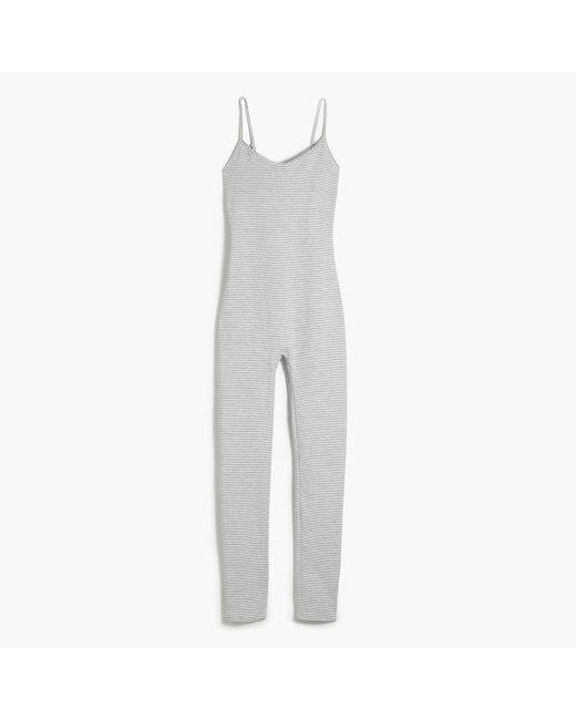 J.Crew | White Full-length Bodysuit In Stripe | Lyst
