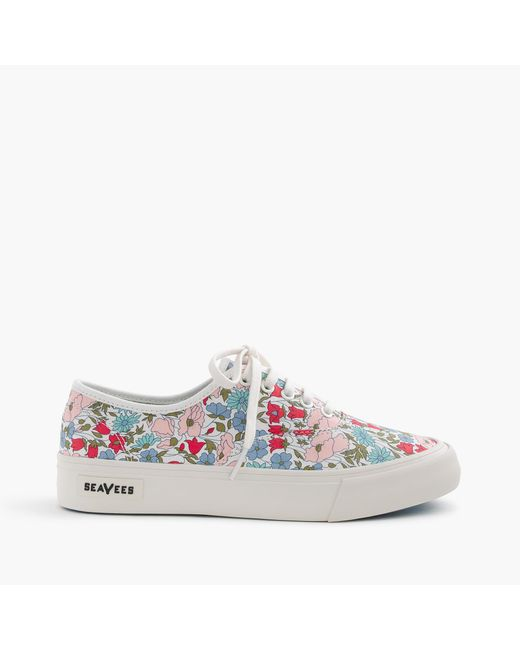 J.Crew | Blue Seavees Legend Sneakers In Liberty Poppy & Daisy Floral | Lyst