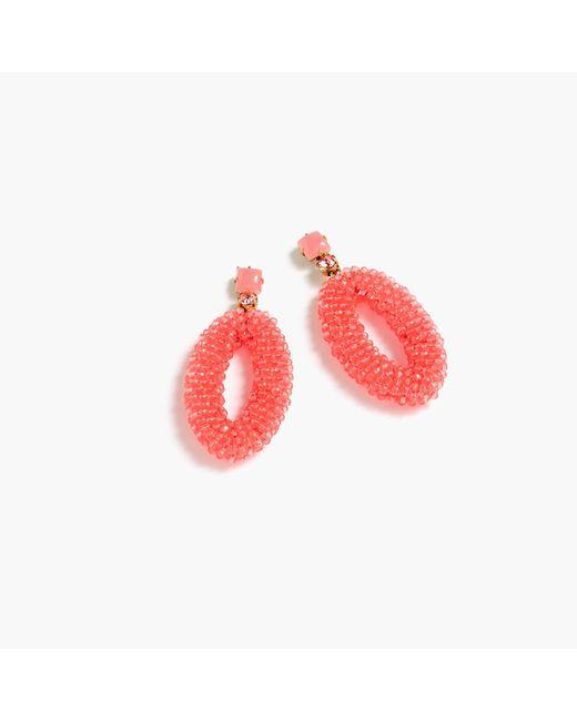 J.Crew | Multicolor Beaded Oval Earrings | Lyst