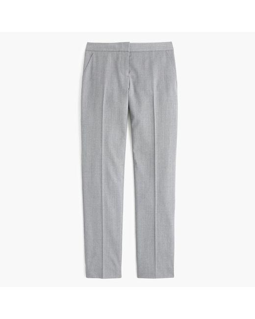 J.Crew | Gray Petite Paley Pant In Italian Super 120s Wool | Lyst