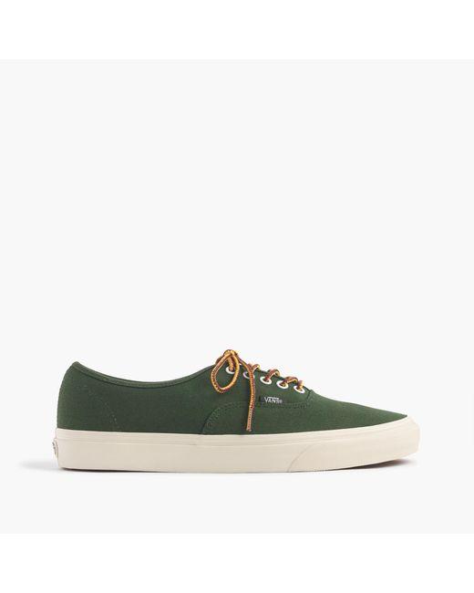 J.Crew | Green Vans Heavy Canvas Authentic Sneakers for Men | Lyst