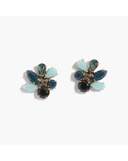 J.Crew   Multicolor Cluster Stone Earrings   Lyst