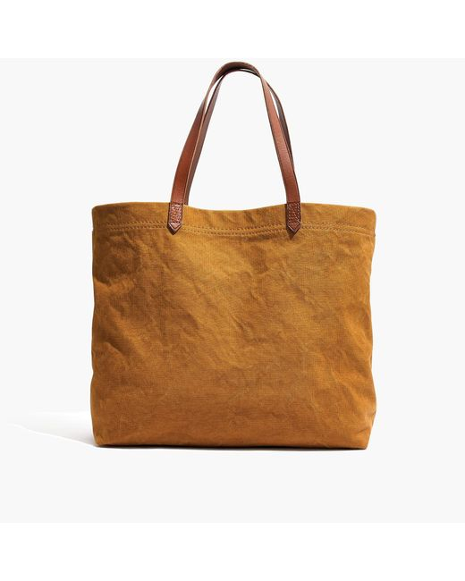 J.Crew - Brown The Madewell Canvas Transport Tote - Lyst