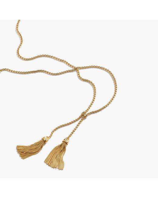 J.Crew   Metallic Tassel Chain Necklace   Lyst