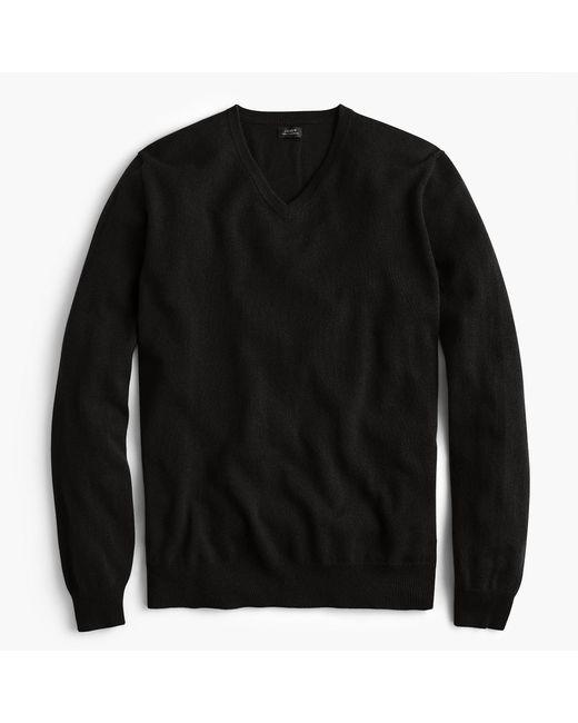 J.Crew - Black Everyday Cashmere V-neck Sweater for Men - Lyst