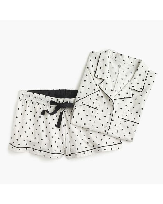 J.Crew - White Pajama Set In Dots - Lyst