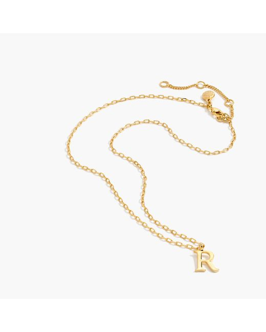 J.Crew | Metallic Gold Letter Necklace | Lyst