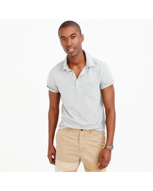 J.Crew - Gray Tall Broken-in Pocket Polo Shirt for Men - Lyst