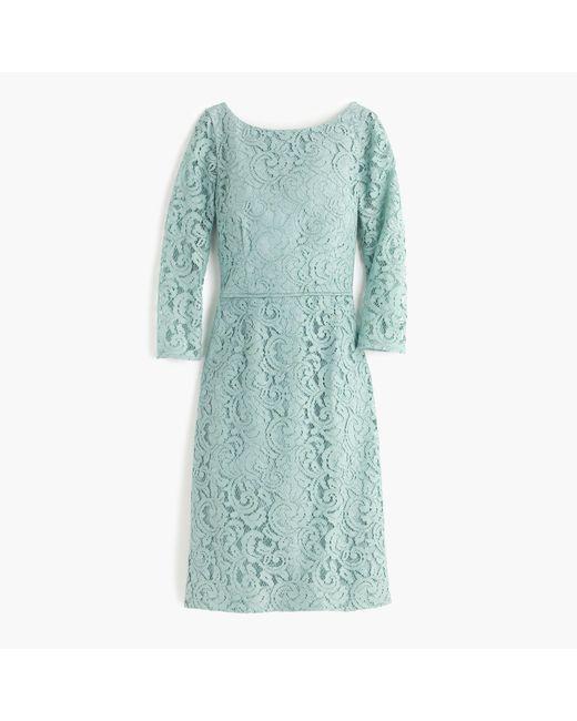 J.Crew | Blue Petite Natalia Dress In Leavers Lace | Lyst