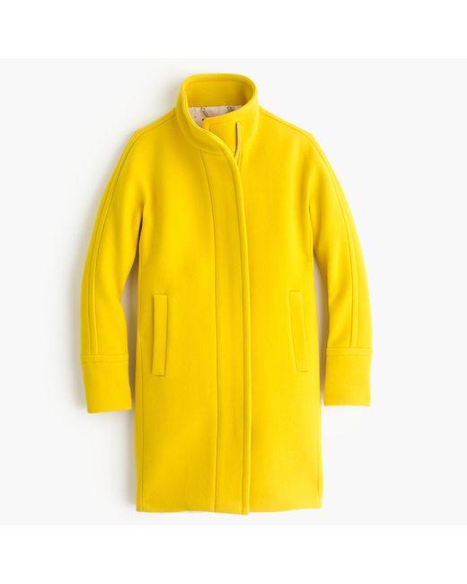 J.Crew | Yellow Tall Stadium-cloth Cocoon Coat | Lyst
