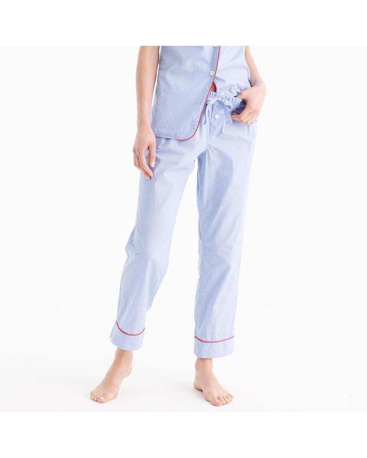J.Crew | Blue Tipped Pajama Pant | Lyst