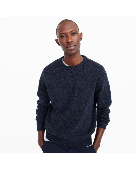 J.Crew | Blue Tall Lambswool Crewneck Sweater for Men | Lyst
