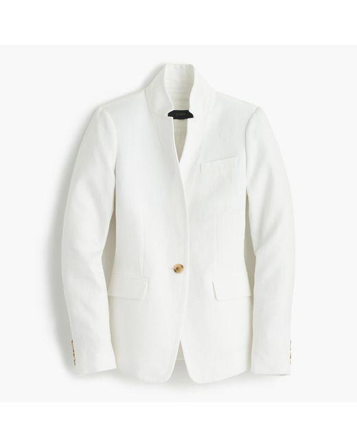 J.Crew | White Tall Regent Blazer In Linen | Lyst