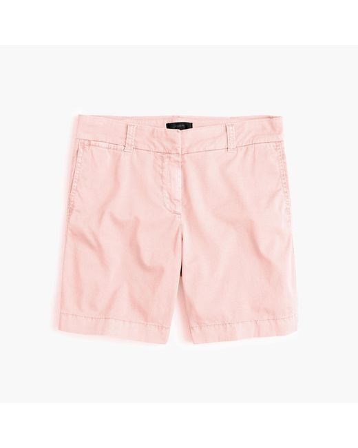 "J.Crew | Pink 7"" Stretch Chino Short 