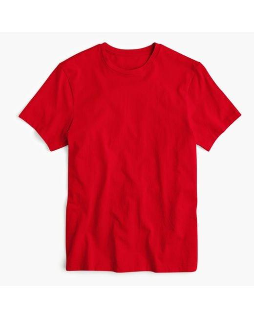 J.Crew - Red Mercantile Broken-in Crewneck T-shirt for Men - Lyst