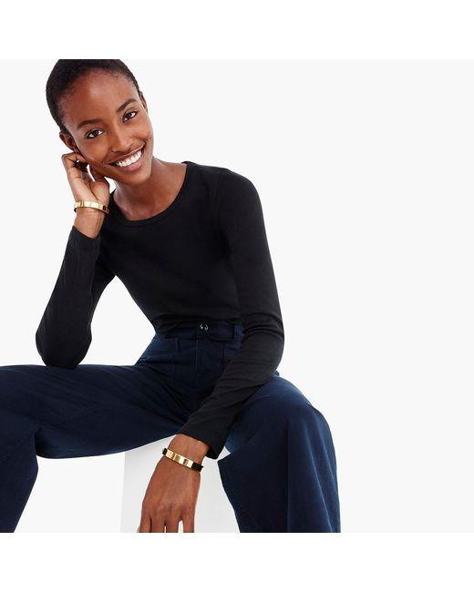 J.Crew - Black Slim Perfect Long-sleeve T-shirt - Lyst