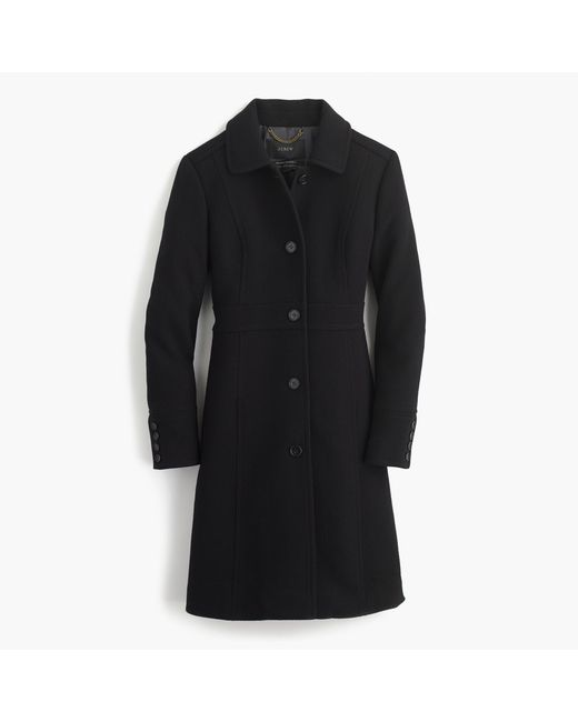 J.Crew | Black Petite Italian Double-cloth Wool Lady Day Coat With Thinsulate | Lyst