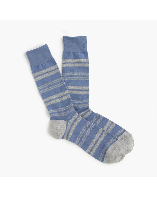 J.Crew - Blue Mixed Stripe Socks for Men - Lyst