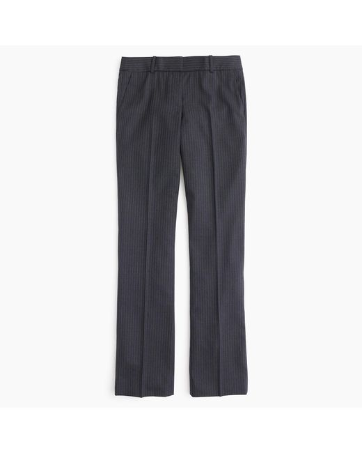 J.Crew | Gray Petite Campbell Trouser In Pinstripe Super 120s Wool | Lyst