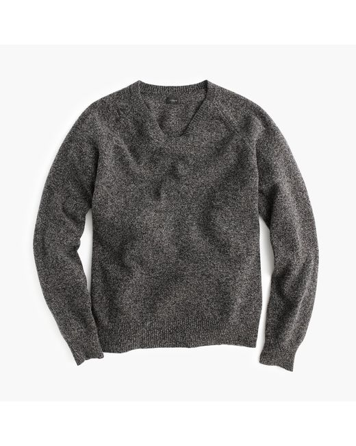 J.Crew | Gray Marled Lambswool V-neck Sweater for Men | Lyst