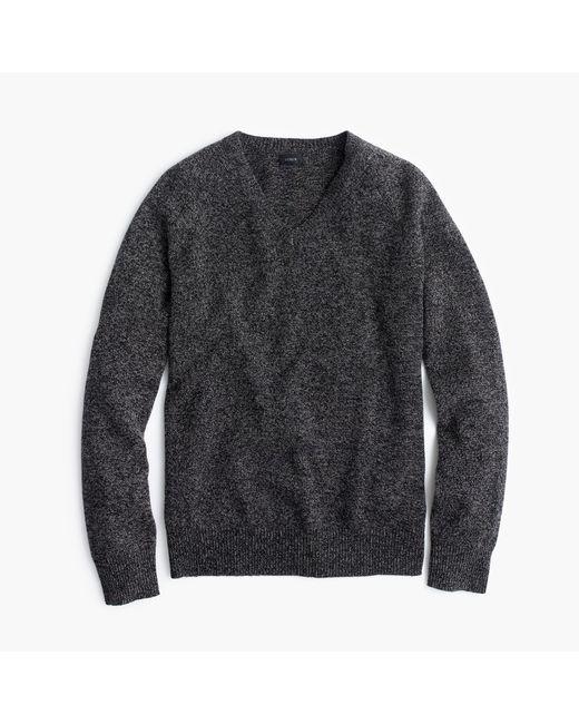J.Crew | Gray Slim Marled Lambswool V-neck Sweater for Men | Lyst