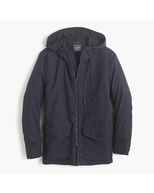 J.Crew | Blue Cotton-nylon X250 Hooded Jacket for Men | Lyst