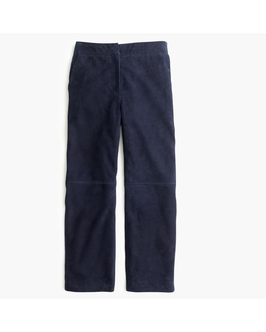 J.Crew | Blue Collection Suede Patio Pant | Lyst