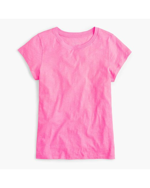 J.Crew | Pink New Vintage Cotton T-shirt | Lyst