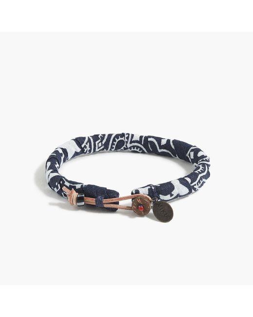 J.Crew - Blue Mikia Bandana Bracelet In Navy - Lyst