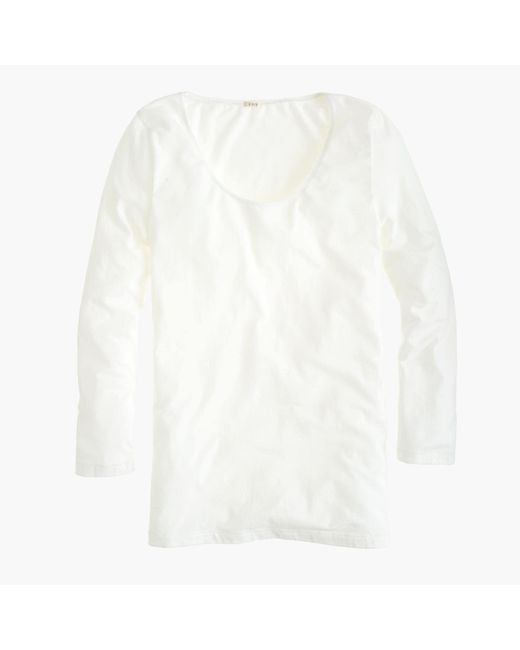 J.Crew | White Stretch Suiting T-shirt | Lyst