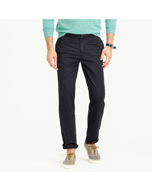J.Crew | Blue Broken-in Chino Pant In 1040 Athletic Fit for Men | Lyst