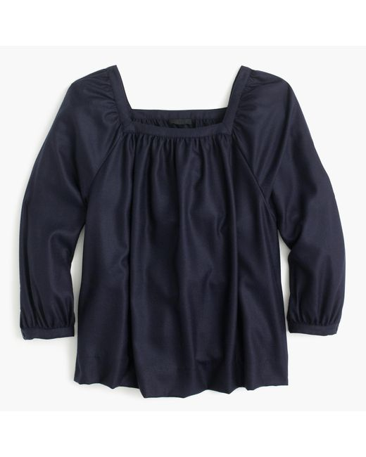J.Crew | Blue Collection Penny Top In Italian Cashmere | Lyst