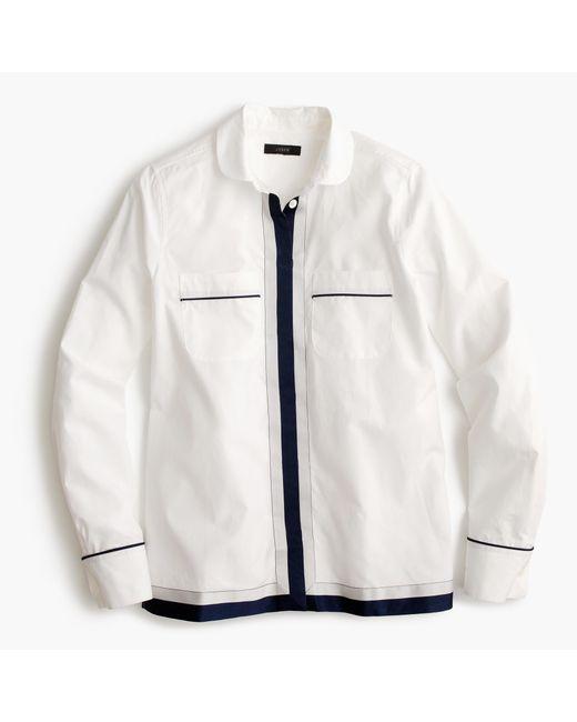 J.Crew | White Pajama Shirt With Grosgrain Trim | Lyst