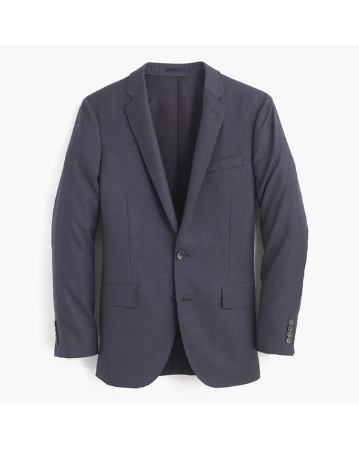 J.Crew   Blue Ludlow Suit Jacket With Double Vent In Italian Worsted Wool for Men   Lyst