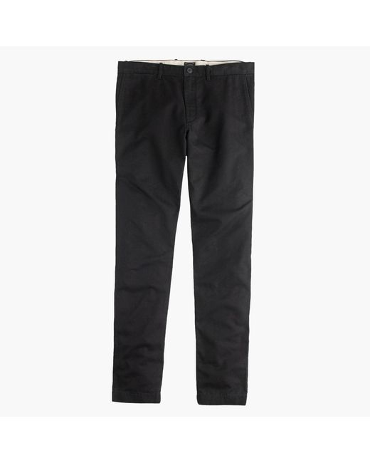 J.Crew - Black Broken-in Chino Pant In 484 Slim Fit for Men - Lyst