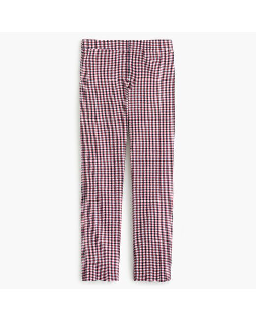 J.Crew | Paley Pant In Red Tattersall | Lyst