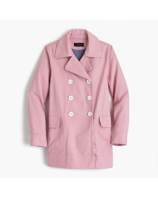 J.Crew | Purple Peacoat In Heavyweight Cotton Twill | Lyst