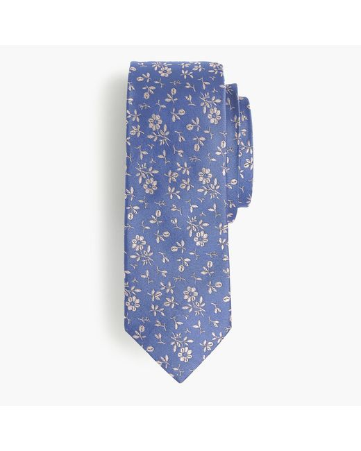 J.Crew   Blue English Silk Tie In Floral Print for Men   Lyst