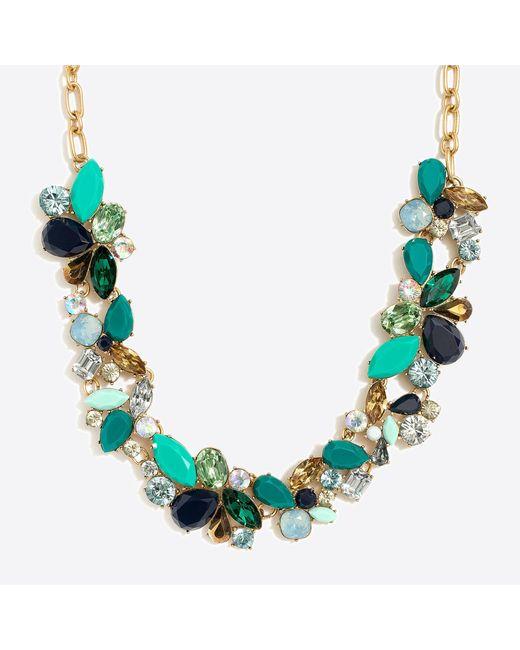 J.Crew - Multicolor Mixed Stones Necklace - Lyst