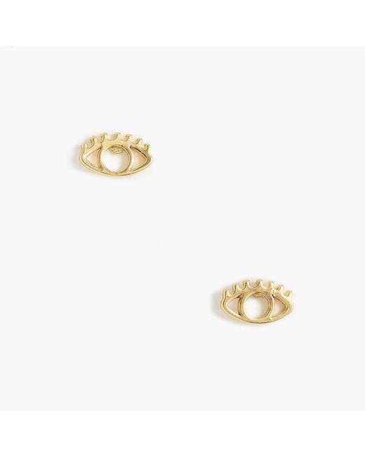 J.Crew - Metallic Eye Earrings - Lyst