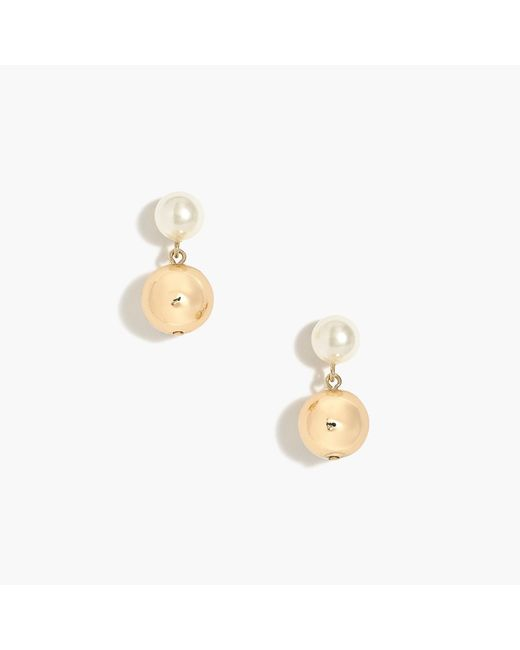 J.Crew - Multicolor Pearl Statement Earrings - Lyst
