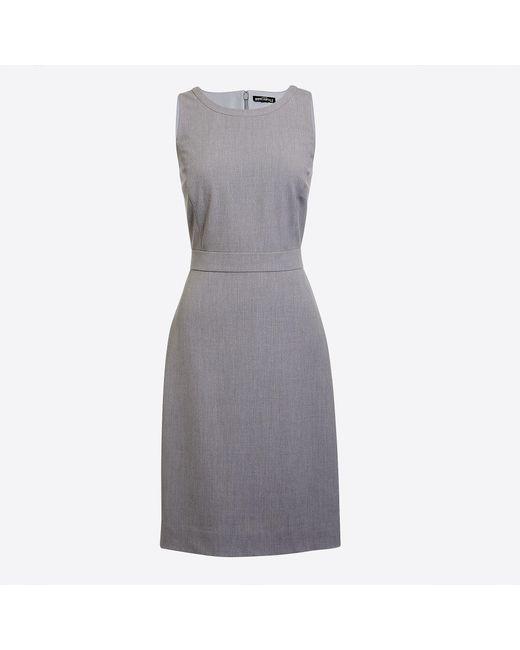 J.Crew - Gray Petite Sheath Dress - Lyst