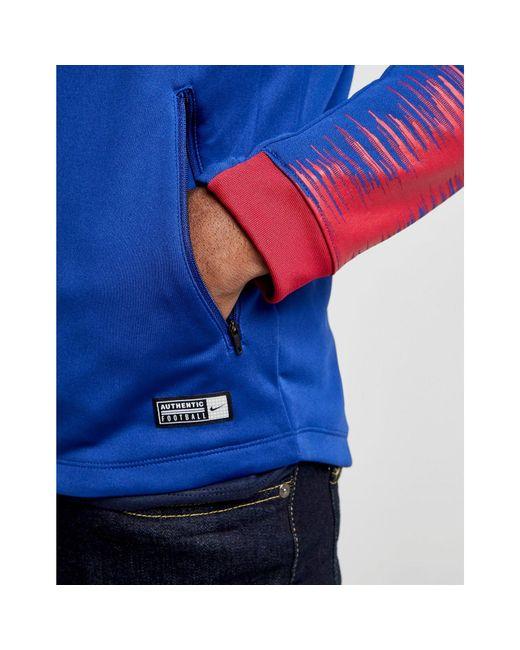 Lyst - Nike Barcelona Anthem Jacket in Blue for Men - Save 43% 6ceac9ed9